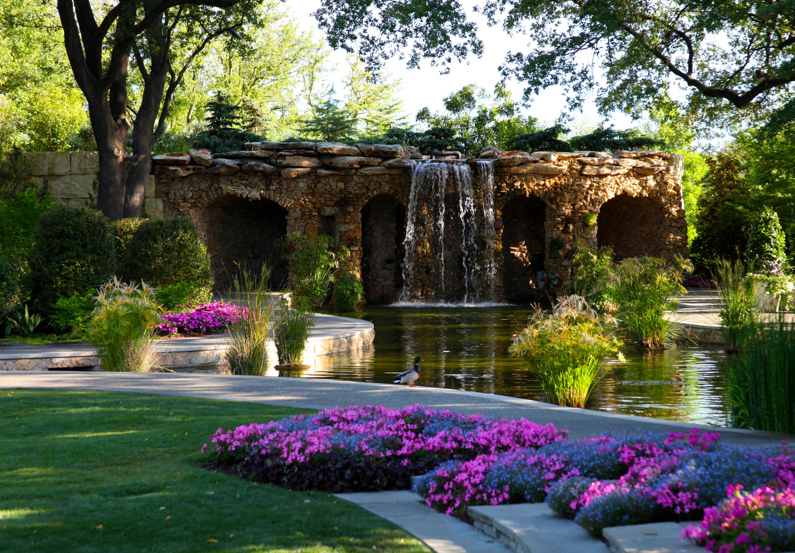 Lay Family Grotto at Dallas Arboretum